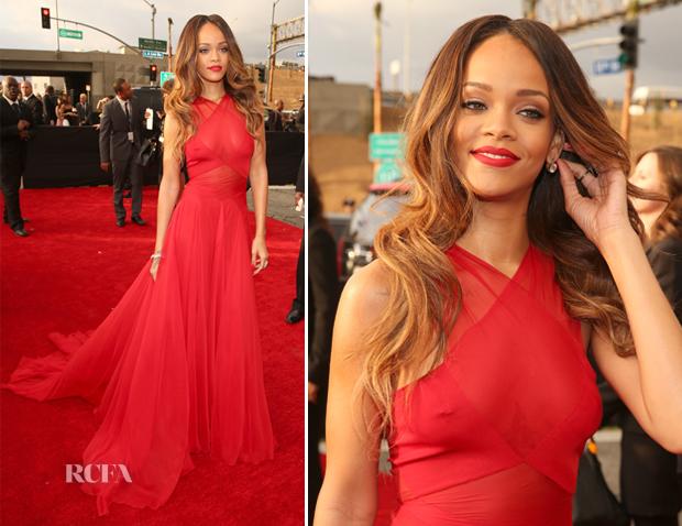 Grammys: Rihanna In Azzedine Alaia
