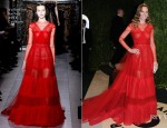 Hilary Swank In Valentino - 2013 Vanity Fair Party