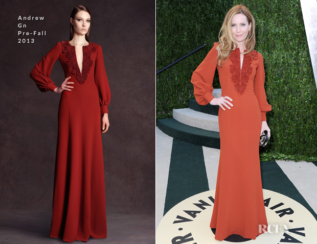 Leslie Mann In Andrew Gn - 2013 Vanity Fair Party
