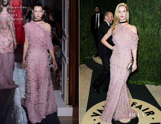 Rosie Huntington-Whiteley In Valentino - 2013 Vanity Fair Party