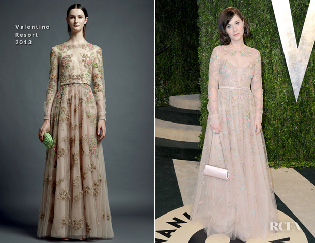 Zooey Deschanel In Valentino - 2013 Vanity Fair Party