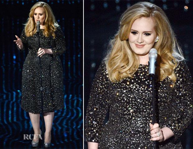Adele In Burberry - 2013 Oscars Performance