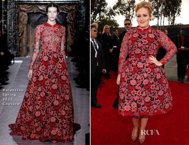Adele In Valentino Couture - 2013 Grammy Awards