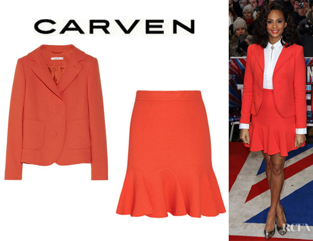 Alesha Dixon's Carven Blazer And Carven Skirt
