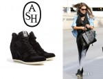 Alessandra Ambrosio's Ash 'Bowie' Wedge Trainers