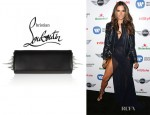 Alessandra Ambrosio's Christian Louboutin 'Marquise' Spiked Leather Clutch