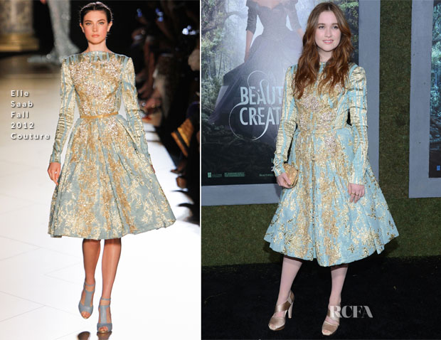 Alice Englert In Elie Saab Couture - 'Beautiful Creatures' LA Premiere