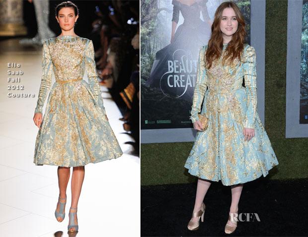 Alice Englert In Elie Saab Couture - 'Beautiful Creatures' LA Premiere