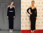 Alice Eve In Alessandra Rich - 2013 BAFTA Awards