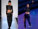 Alicia Keys In Hervé Léger By Max Azria - NBA All-Star Game 2013