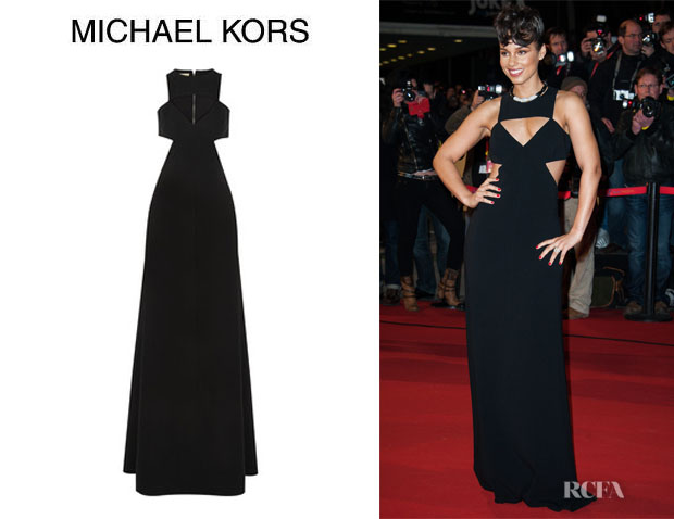 Alicia Keys' Michael Kors Cutout Gown