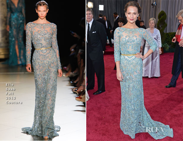 Alicia Vikander In Elie Saab Couture - 2013 Oscars