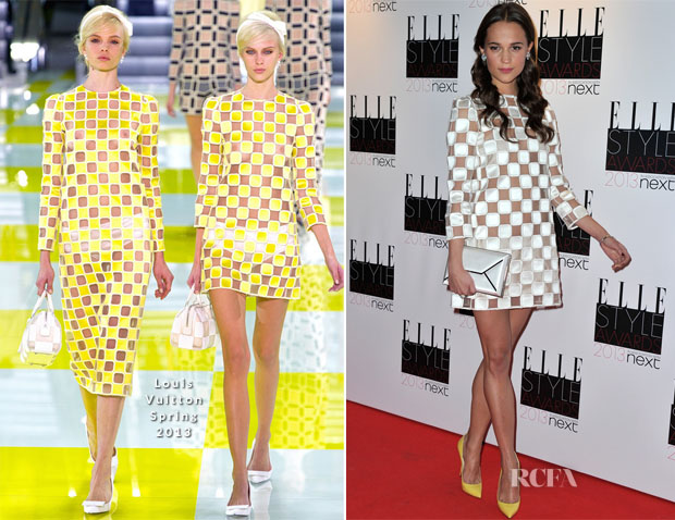 Alicia Vikander In Louis Vuitton - 2013 Elle Style Awards