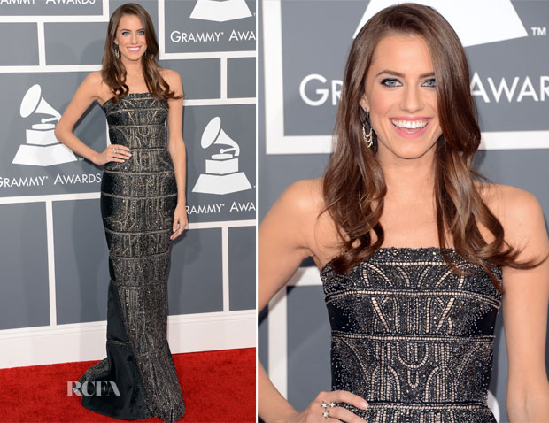 Allison Williams In Kaufmanfranco - 2013 Grammy Awards