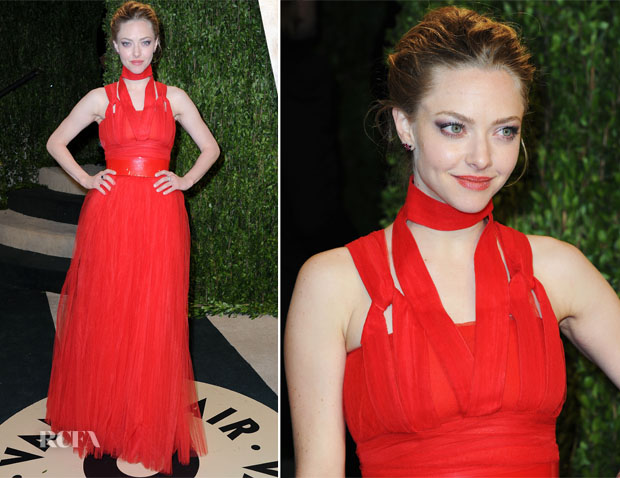 Amanda Seyfried In Givenchy - 2013 Vanity Fair Party