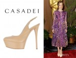 Amy Adams' Casadei Platform Pumps
