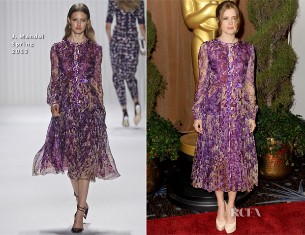 Amy Adams In J Mendel - 85th Academy Awards Nominations Luncheon