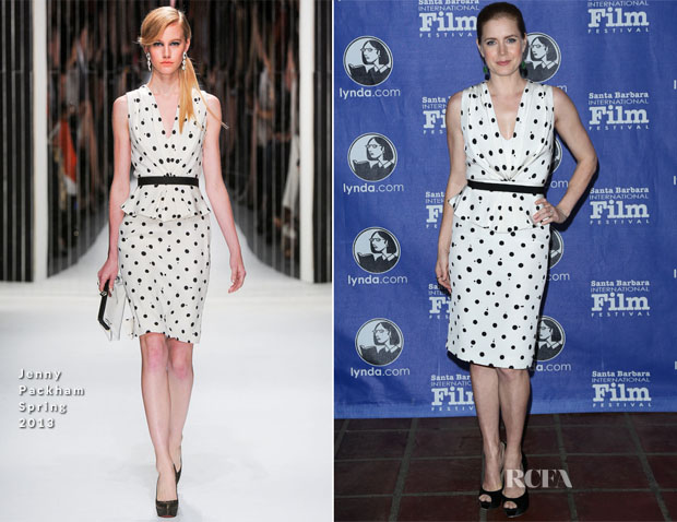 Amy Adams In Jenny Packham - 2013 Santa Barbara Film Festival Cinema Vanguard Award Ceremony