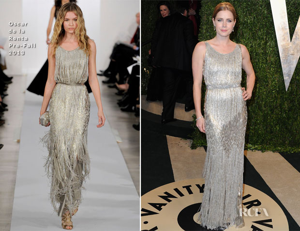Amy Adams In Oscar de la Renta - 2013 Vanity Fair Party