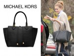 Amy Adams' Michael Kors 'Miranda' Pebbled Tote