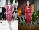 Analeigh Tipton In Georges Hobeika Couture - BVLGARI Celebration of Elizabeth Taylor's collection of BVLGARI Jewelry