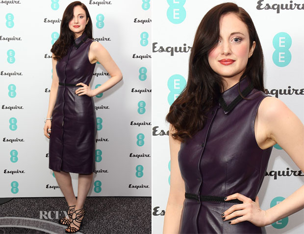 Andrea Riseborough In Christopher Kane - EE & Esquire Pre-BAFTA Party