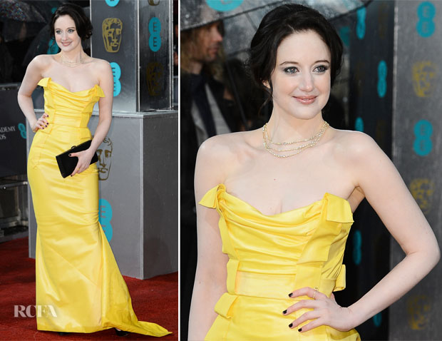 Andrea Riseborough In Vivienne Westwood - 2013 BAFTA Awards