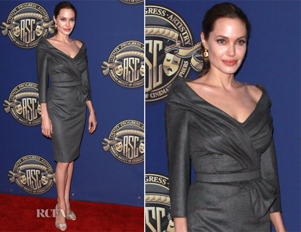 Angelina Jolie In Atelier Versace - 27th Annual Outstanding Achievement Awards