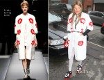 Anna Dello Russo In Prada - New York Fashion Week Street Style