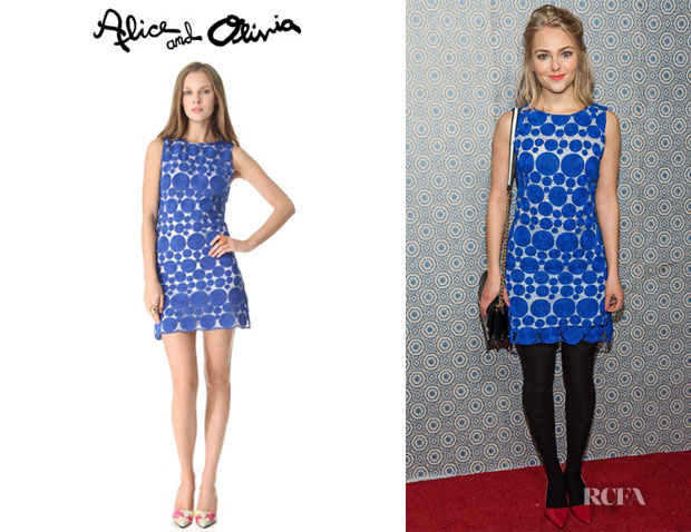 Annasophia Robb's Alice + Olivia Sleeveless Shift Dress
