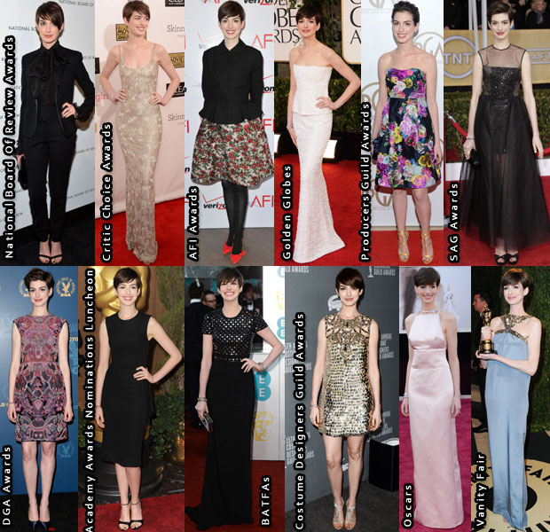 Anne Hathaway 2013 Awards Season