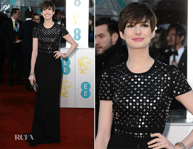 Anne Hathaway In Burberry - 2013 BAFTA Awards