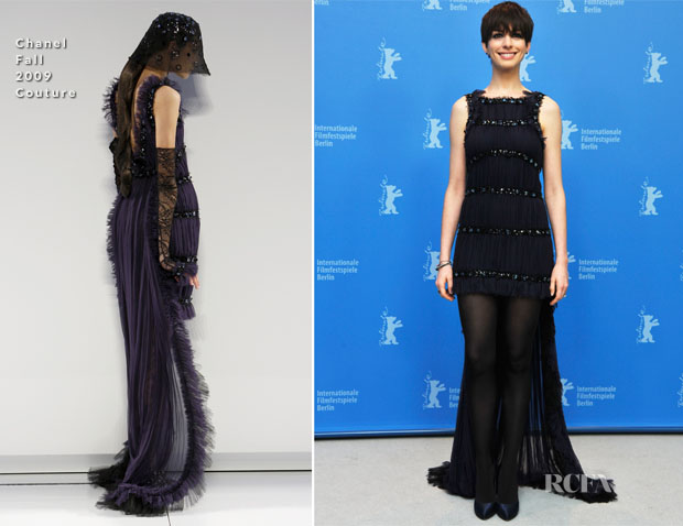 Anne Hathaway In Chanel Couture - 'Les Miserables' Berlin Film Festival Premiere