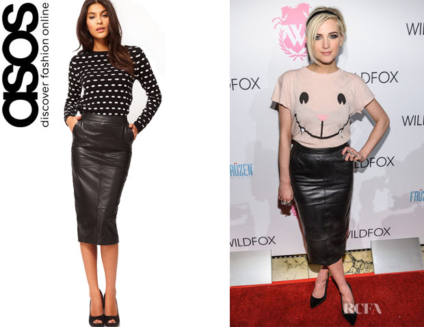 Ashlee Simpson's ASOS Leather Pencil Skirt