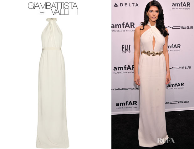 Ashley Greene's Giambattista Valli Twisted Crepe Gown