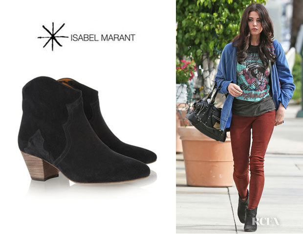 Ashley Greene's Isabel Marant 'Dicker' Ankle Boots