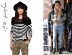 Ashley Tisdale's Free People Striped Pullover