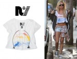 Ashley Tisdale's Rebel Yell 'Eagle' Boyfriend Cropped Tee
