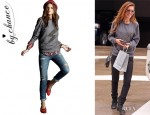 Audrina Patridge's By Chance 'Melissa Lightening Bolt' Sweatshirt