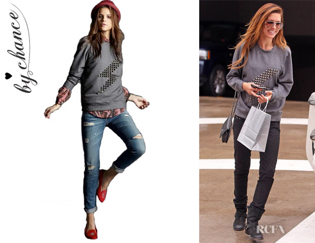 Audrina Patridge's By Chance 'Melissa Lightening Bolt' Sweatshirt1