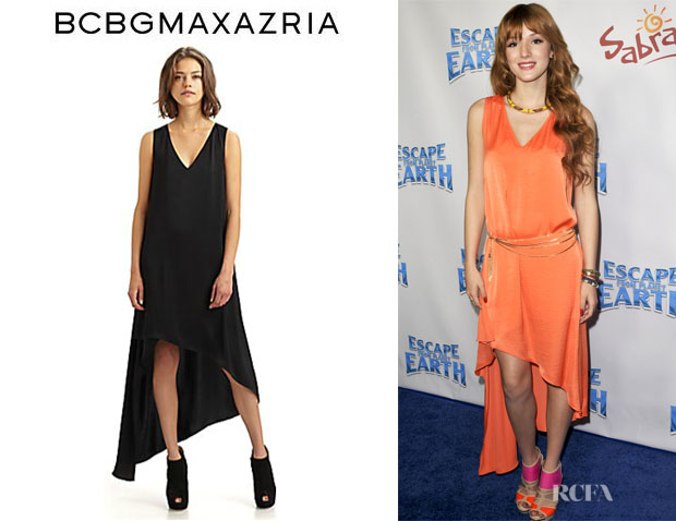 Bella Thorne's BCBG Max Azria 'Avery' V-Neck Dress