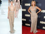 Beyonce Knowles In Elie Saab Couture - 'Beyonce: Life Is But A Dream' New York Premiere