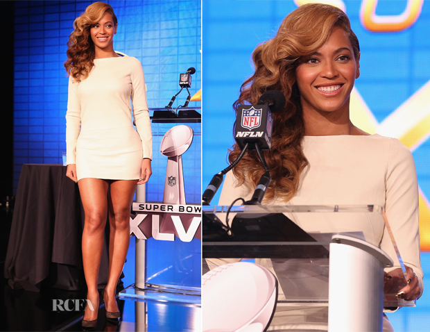 Beyonce Knowles In Olcay Gulsen - Pepsi Super Bowl XLVII Halftime Show Press Conference