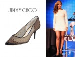 Beyonce Knowles' Jimmy Choo 'Bard Point D'Esprit' Pumps