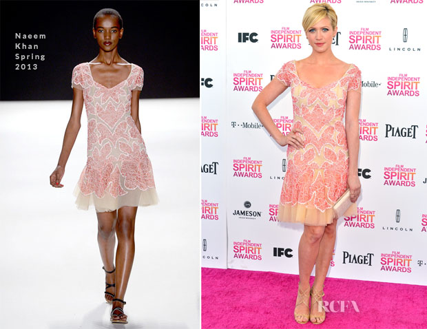 Brittany Snow In Naeem Khan S13 - 2013 Independent Spirit Awards