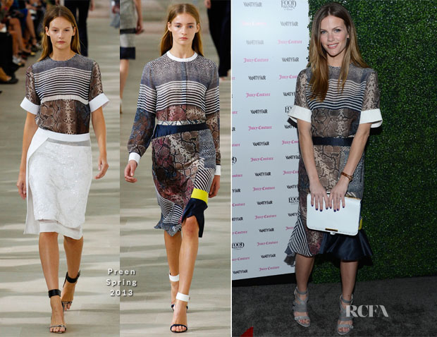 Brookyln Decker In Preen S13 - Vanity Fair And Juicy Couture Celebration Of The 2013 Vanities Calendar