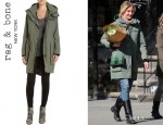 Cameron Diaz' Rag & Bone 'Wynn' Hooded Coat