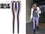 Cara Delevingne's House Of Holland Striped Skinny Jeans