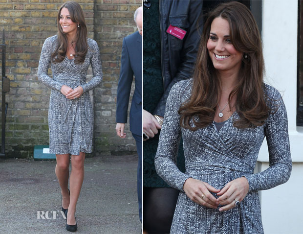 Catherine, Duchess Of Carmbridge In Max Mara - Hope House Visit