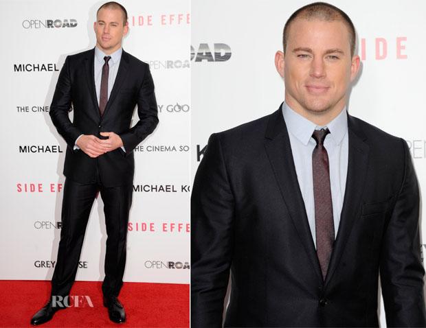 Channing Tatum In Dolce & Gabbana - 'Side Effects' New York Premiere
